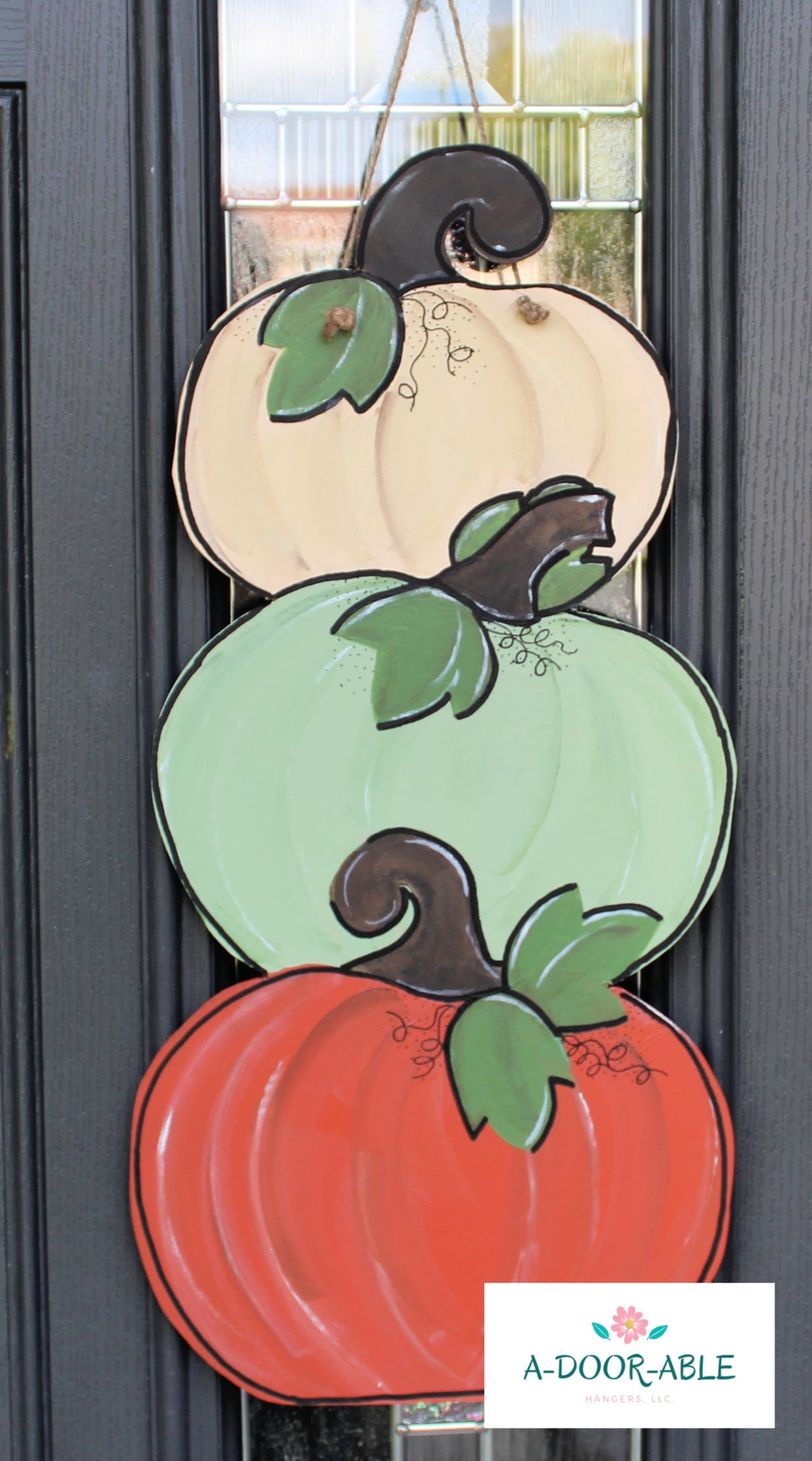 Stacked Pumpkin Door Hanger