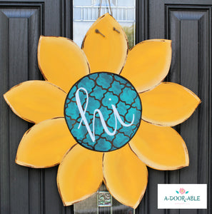 Sunflower Door Hanger Hi