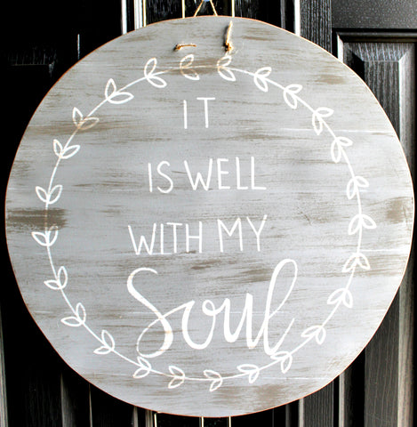 Circle - It Is Well With My Soul - Gray