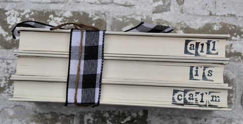 Book Stack - All is Calm - White