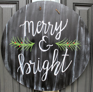 Circle - Merry & Bright - Black