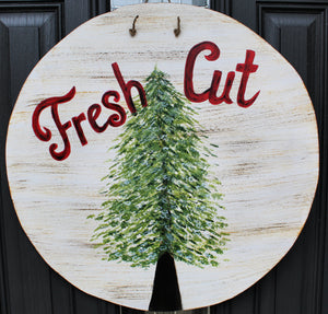 Circle - Fresh Cut Trees - Cream