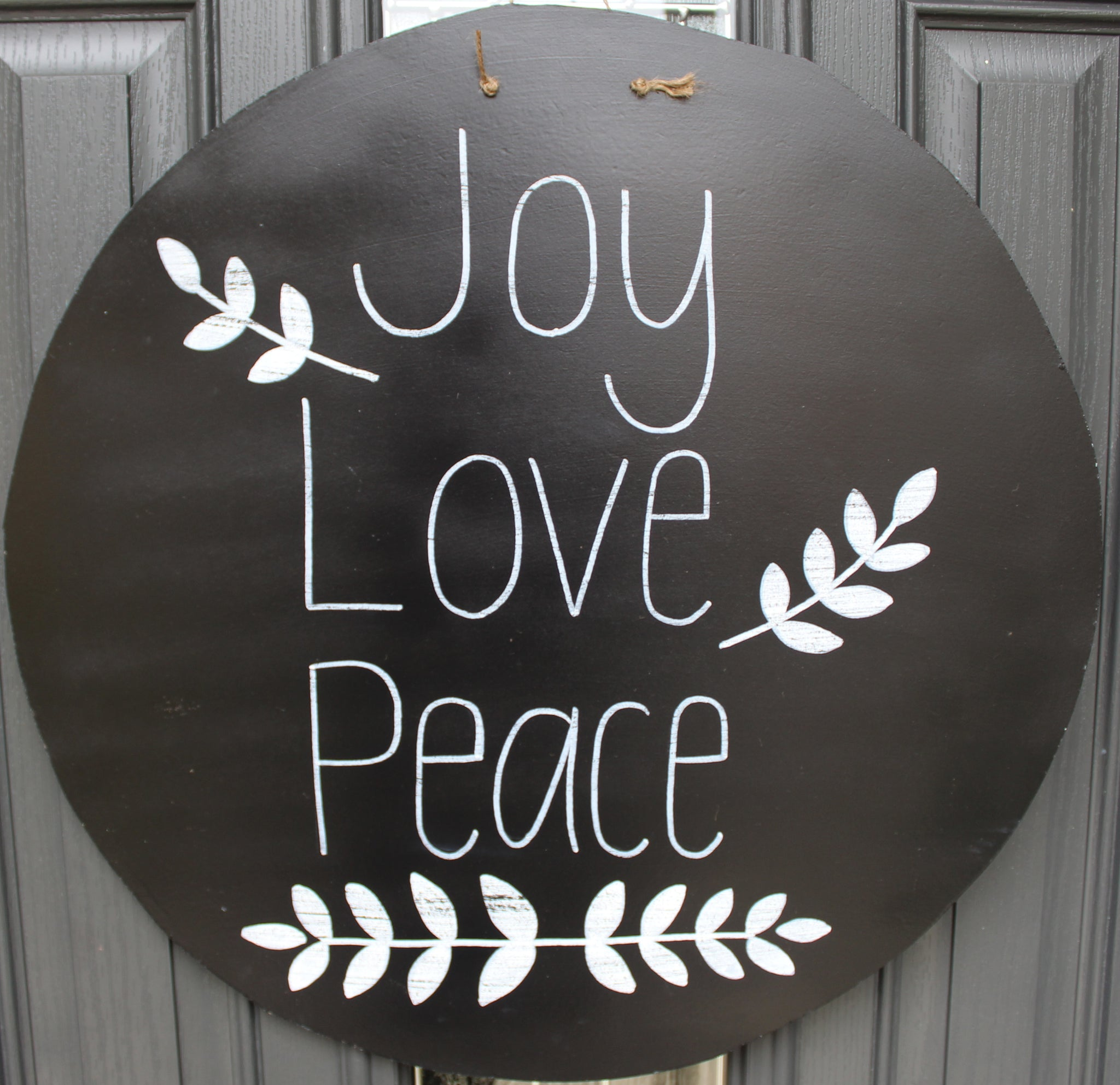 Circle -Joy Love Peace - Black