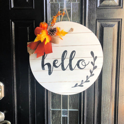 Hello Fall Circle Door Hanger