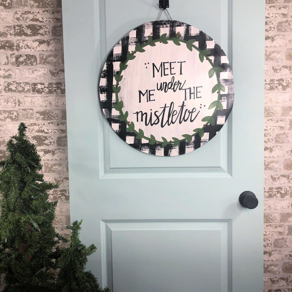 Meet Me Under the Mistletoe Door Hanger