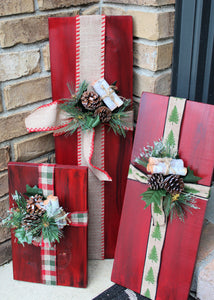Porch Sitter - Set of 3 Presents - Red
