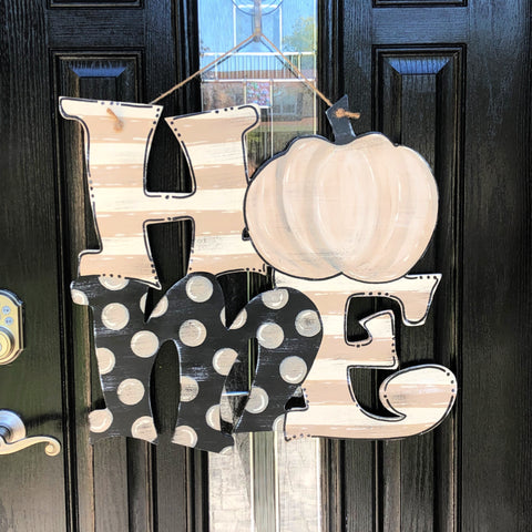 """Home"" Pumpkin Door Hanger"