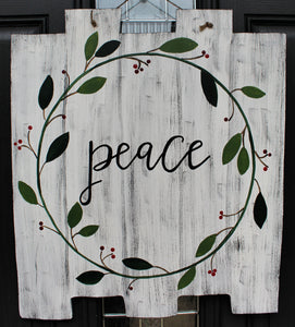 Shiplap - Peace Wreath
