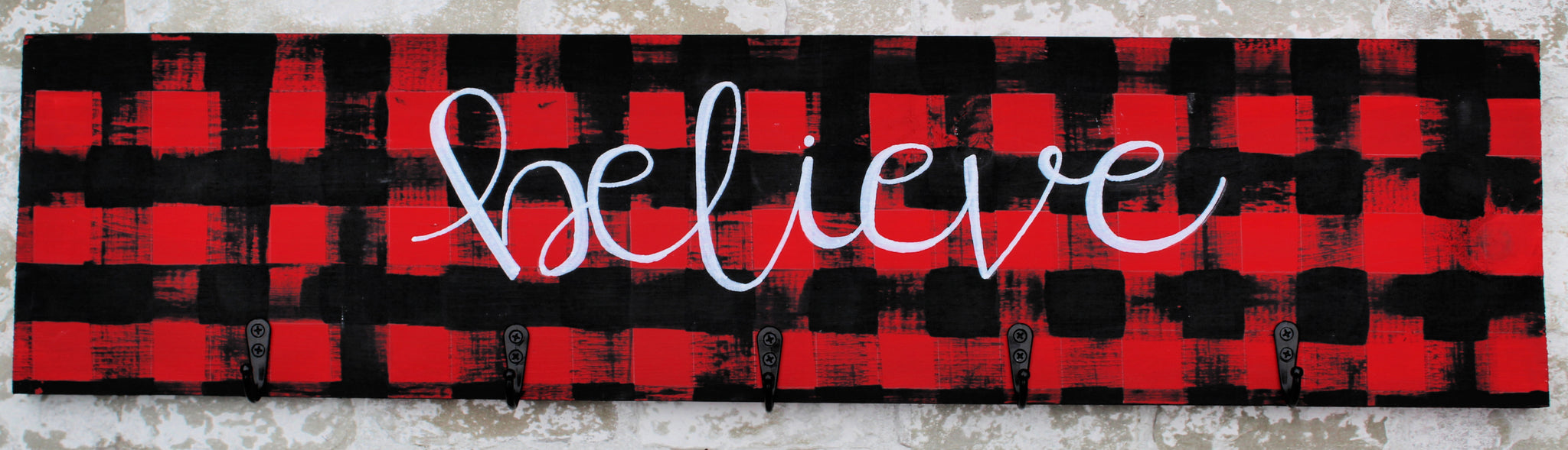 Stocking Holder - Believe - 5 Hooks