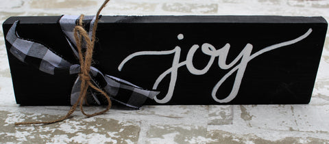 Word Block - Joy - Black