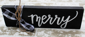 Word Block - Merry - Black
