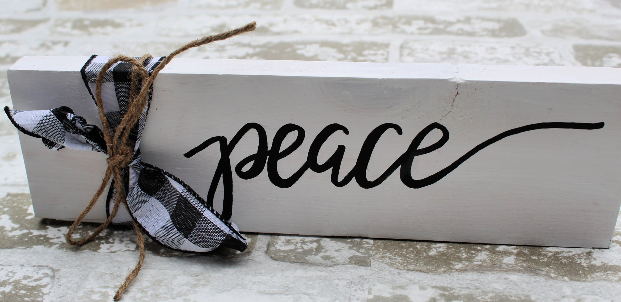 Word Block - Peace - White