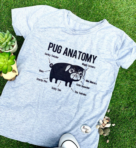 Pug Anatomy be Puggled T's