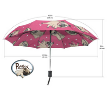 Load image into Gallery viewer, Puggled Umbrella  - exclusive Puggled design