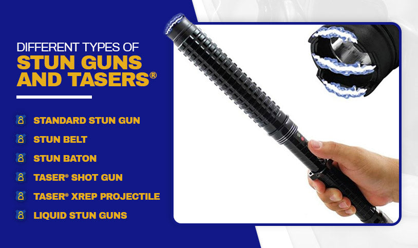 Different Types of Stun Guns and TASERs