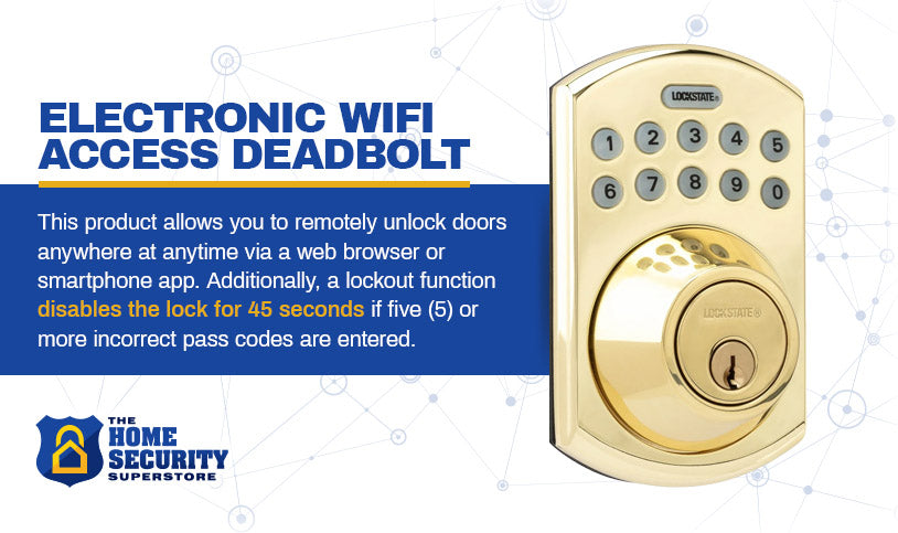 electronic wifi access deadbolt