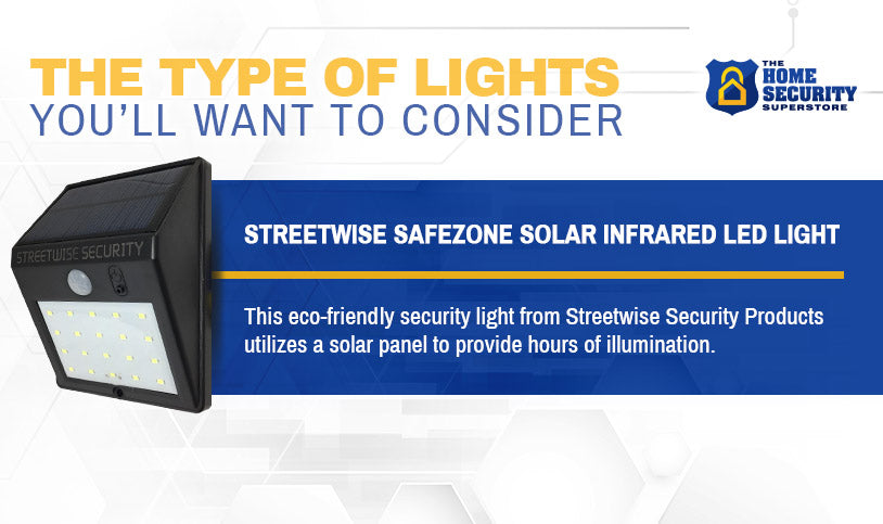 STREETWISE SAFEZONE SOLAR INFRARED LED LIGHT 160 LM