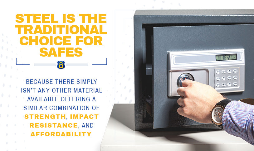 Steel is the traditional choice for safes