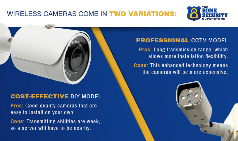 Wireless cameras come in two variations