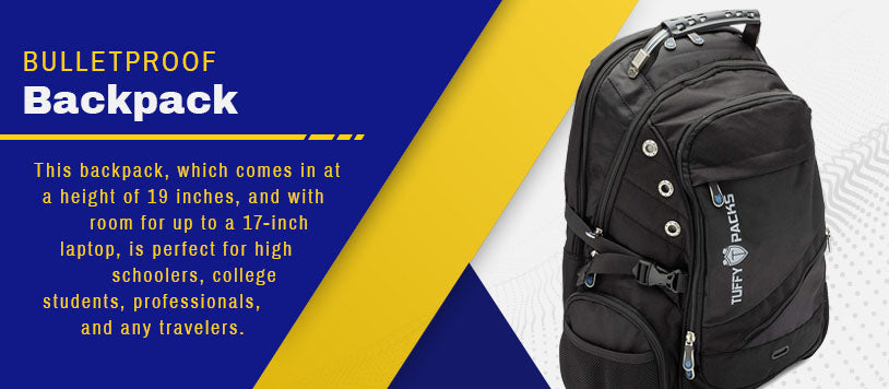 bulletproof backpack graphic