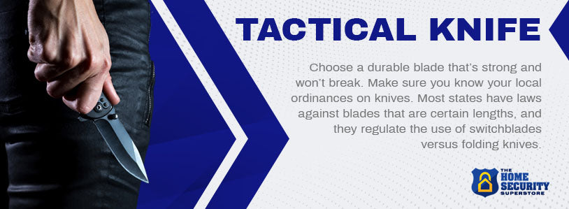 car defense tactical knife graphic