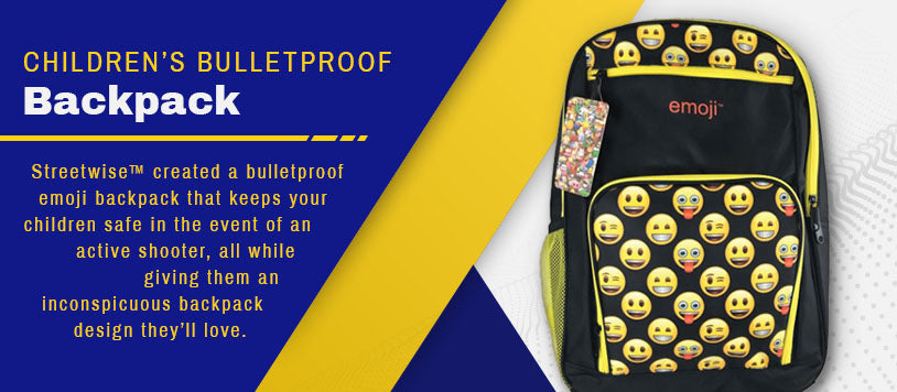 childrens bulletproof backpack graphic