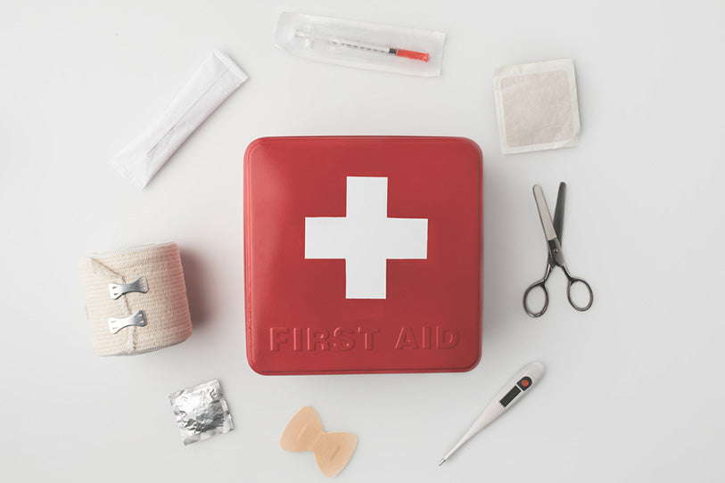 firstaid kit with medical supplies