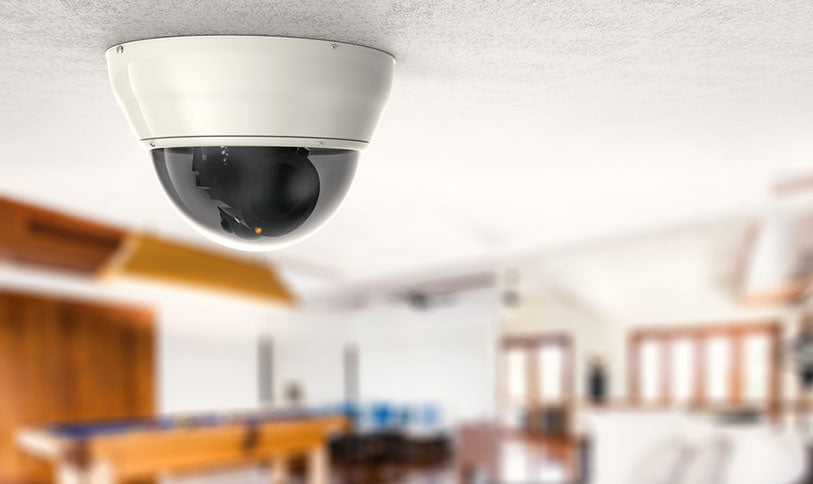 home dome camera on ceiling