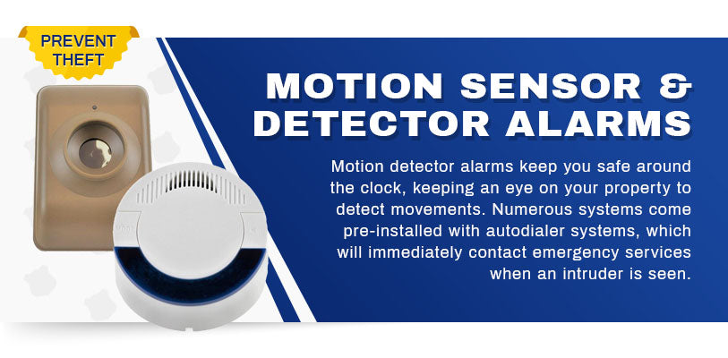 motion sensor and detector alarms graphic