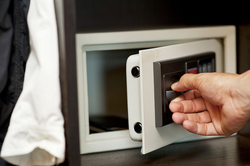 opening door to a home safe