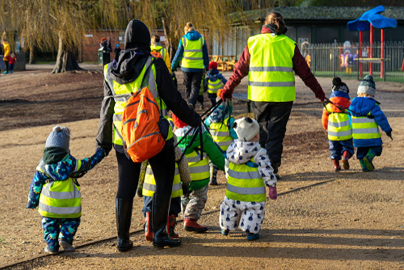 parents kids reflective vests