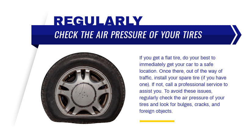 regularly check tire air pressure