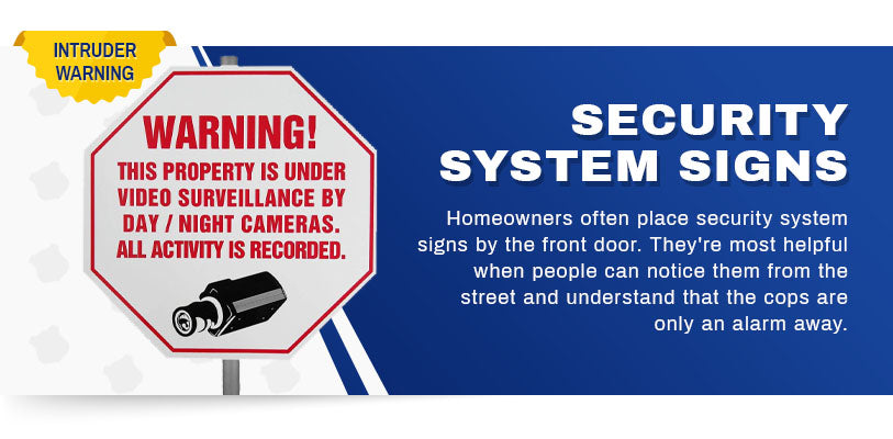 security system signs graphic