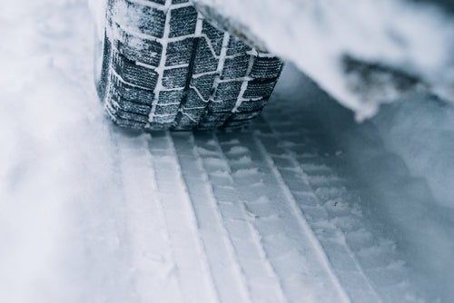 tire on snow