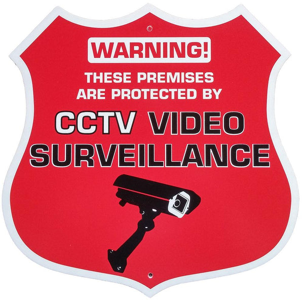 Red Badge CCTV Video Surveillance Warning Sign