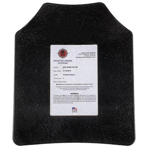 "SPARTAN™ Omega Level 3 Bulletproof Body Armor Shooters Cut 10"" x 12"" 2-pack"