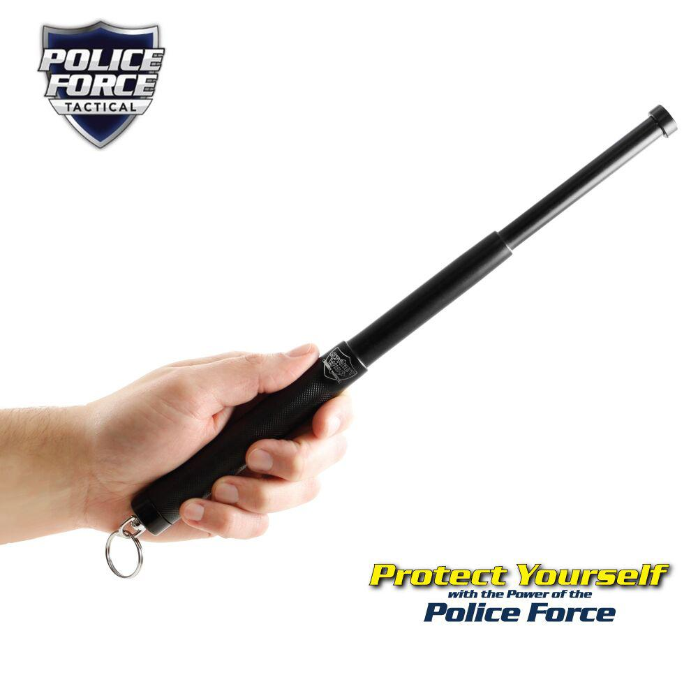 Police Force Tactical Expandable Steel Keychain Baton 12