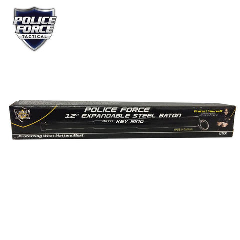 Police Force Tactical Expandable Steel Keychain Baton 12''