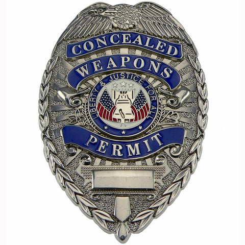 Rothco Concealed Weapons Permit Badge Silver