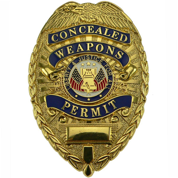 Rothco Concealed Weapons Permit Badge Gold