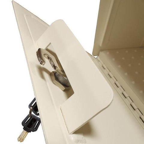 Mail Boss Townhouse Locking Security Mailbox Safe White
