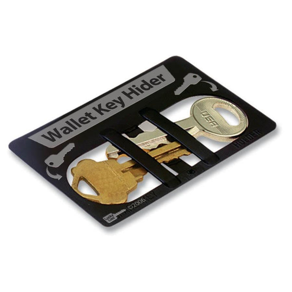 Durable Plastic Credit Card Size Wallet Key Hider