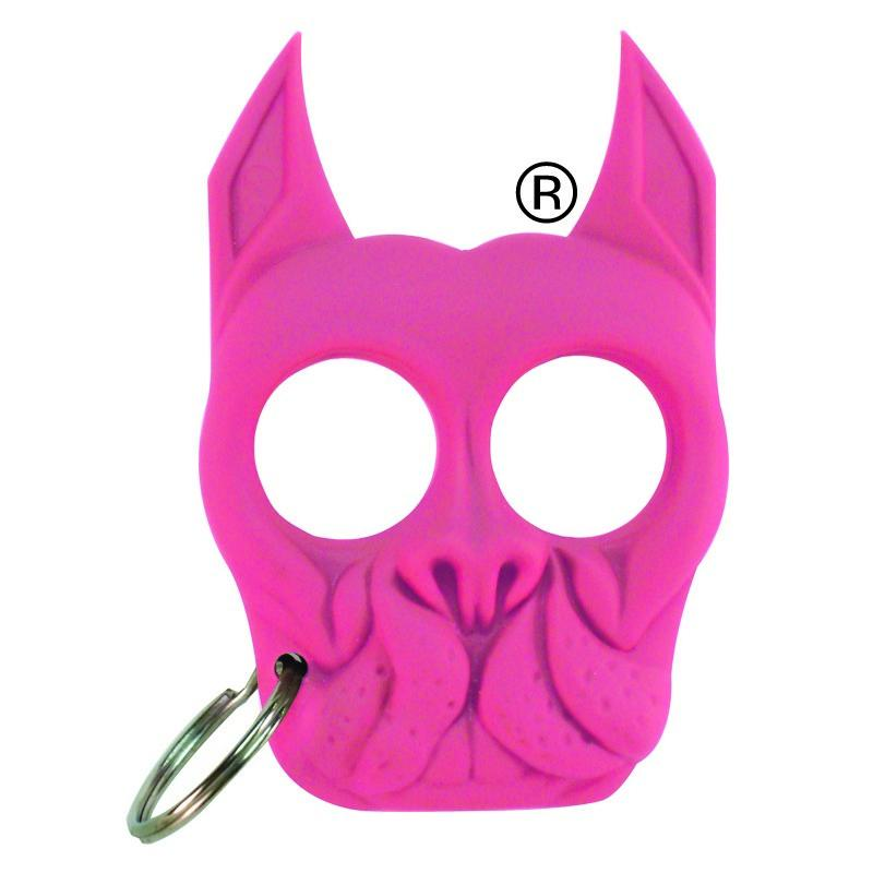 Brutus Bulldog Self Defense Keychain Knuckle Weapon Pink The