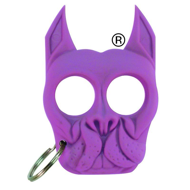 Brutus Bulldog Self Defense Keychain Knuckle Weapon Purple The