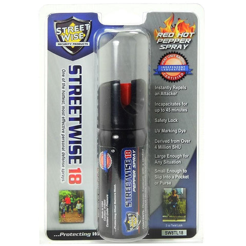 Streetwise™ 18 Twist-Top Police Pepper Spray 2 oz. Stream