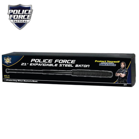 Police Force Tactical Expandable Solid Steel Baton 21''