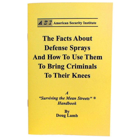 ASI How To Use Tactical Defense Sprays Handbook