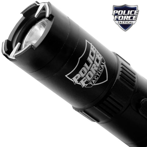Police Force Tactical Stun Gun Flashlight Grey 9.2M