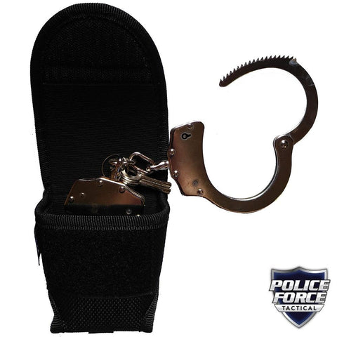 Police Force Tactical Nylon Handcuff Holster w/ Belt Loop