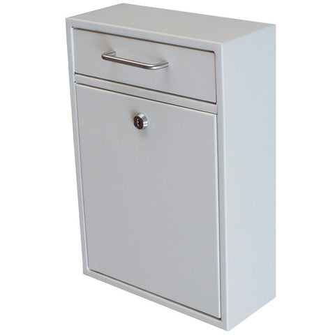 Mail Boss Locking Security Drop Mailbox Safe White